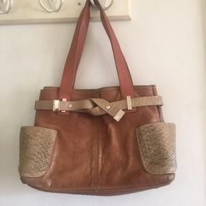 Ted Baker Vintage Satchel Purse Tote Bag Leather